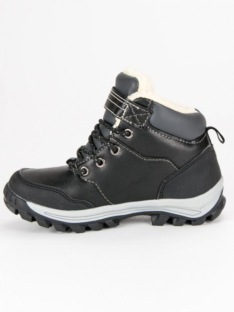 Čierne detské teplé zimné topánky - Detské čižmy - Locca.sk 8b0f7371c3b