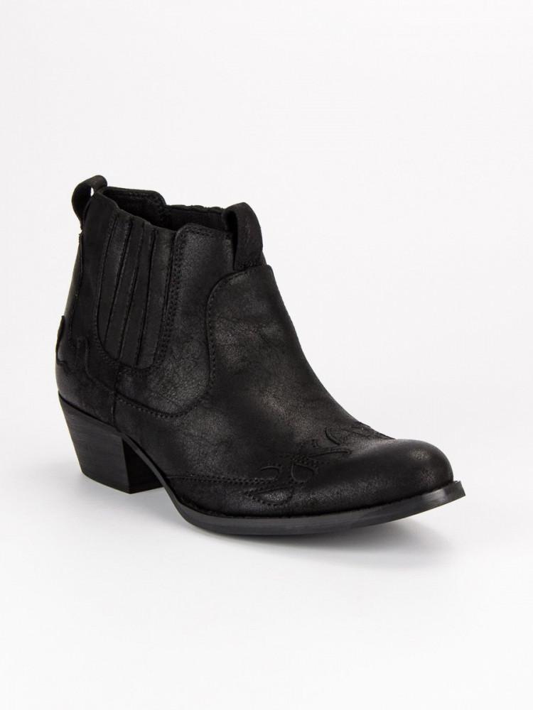 664ba33f4 Čierne topánky kovbojky - Dámske topánky - Locca.sk