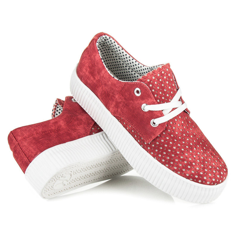 c11dc20998 Dámske červené azúrové tenisky na platforme - Dámske tenisky na ...