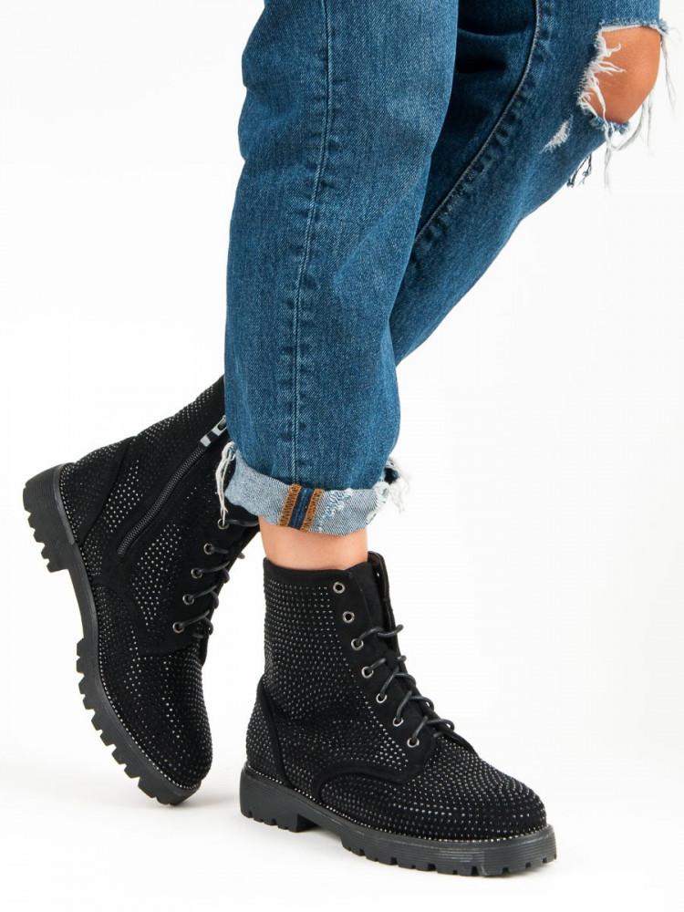 841892df1df0 Dámske čierne topánky s kamienkami - Dámske topánky - Locca.sk