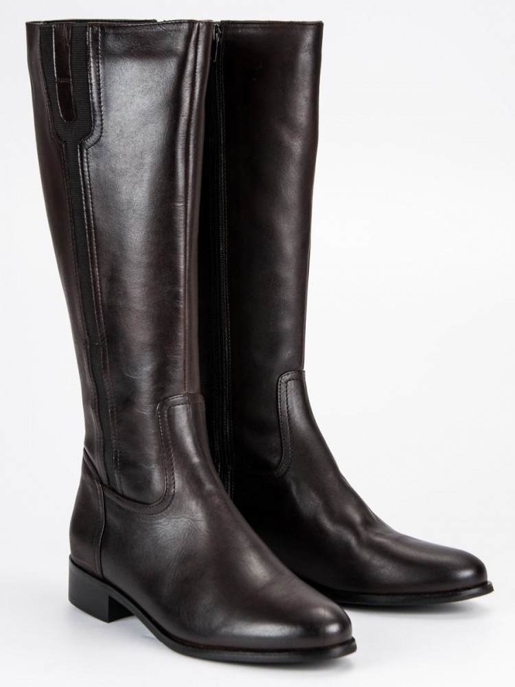 7a3b58760062d Dámske luxusné hnedé kožené čižmy - Dámske vysoké čižmy - Locca.sk