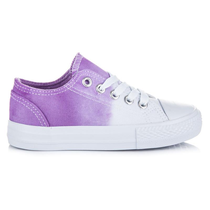 ecc6bd156c Detské dvojfarebné bielo-fialové tenisky na jar - Detské tenisky ...