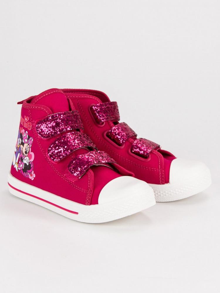 e9e2bc9dfa Detské ružové tenisky na suchý zips Mickey Mouse - Detské tenisky ...