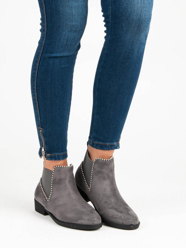 0bc8042054 Elegantné šedé členkové topánky - Dámske topánky - Locca.sk