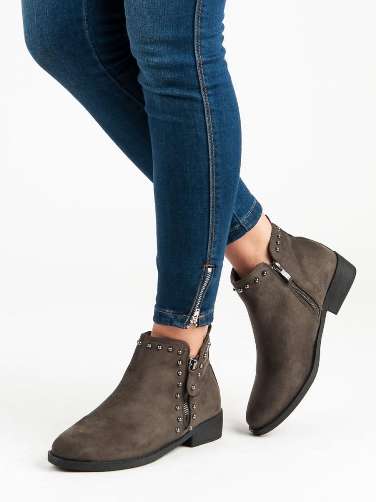 315f0b26f2 Exkluzívne dámske Členkové topánky zelené na plochom podpätku ...