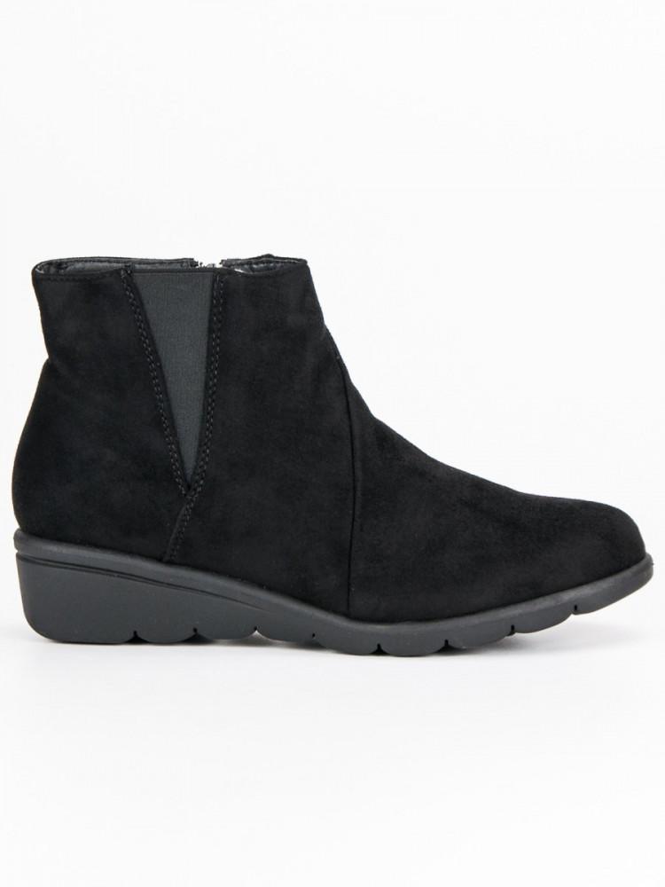 Jedinečné Členkové topánky čierne dámske bez podpätku - Dámske ... 99cf18b7e36