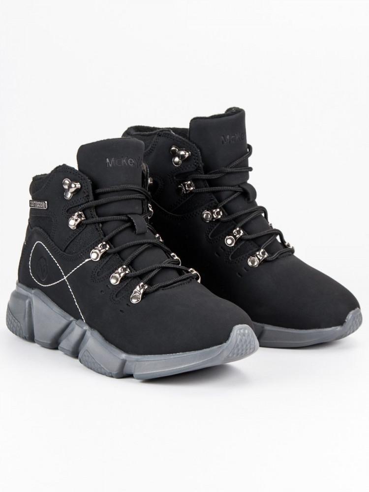Jedinečné Členkové topánky dámske čierne bez podpätku - Dámske ... 6f93ef1519f