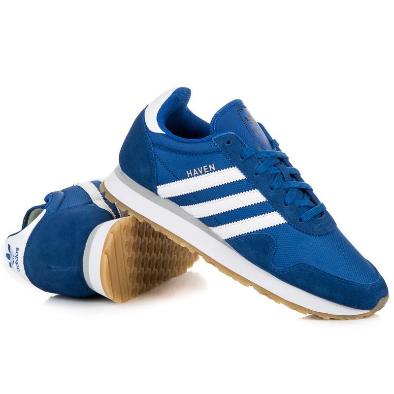 Jednoduché modré pánske tenisky Adidas Haven - Pánske tenisky - Locca.sk 52dfaaac470