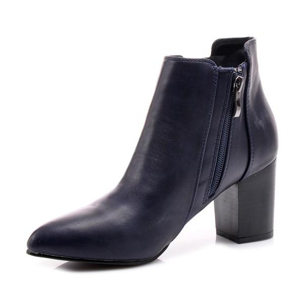 Jesenné modré členkové topánky - Dámske topánky - Locca.sk 8f42953b1b8