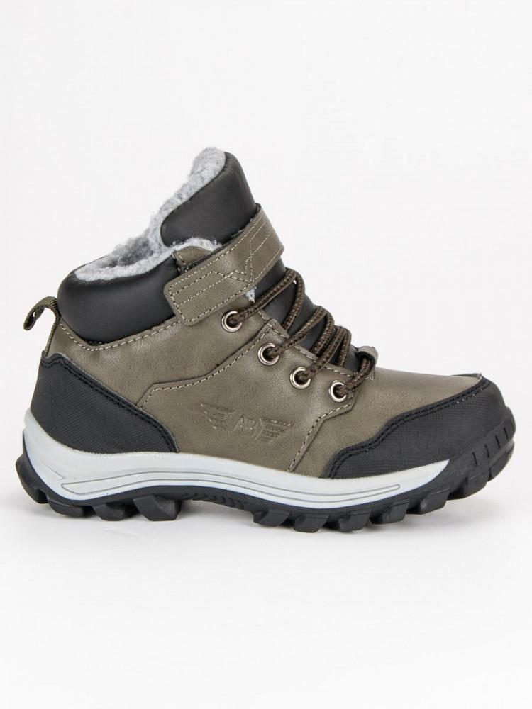 e71a43437 Khaki detské teplé zimné topánky - Detské čižmy - Locca.sk