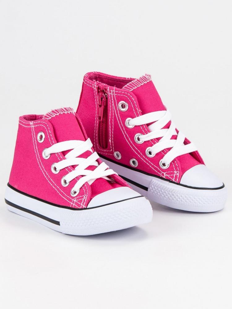 28f917d64ba2 Komfortné tenisky a športové topánky detské ružové bez podpätku ...