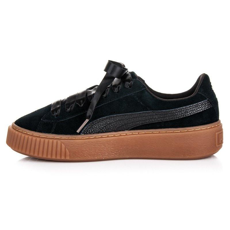 c319c7136246 Krásne čierne semišové tenisky so stužkou zn. Puma - Dámske členkové ...
