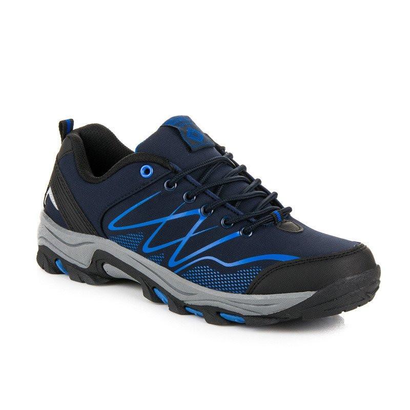 559282ad550a Kvalitné modré pánske trekové topánky - Pánska vychádzková obuv ...