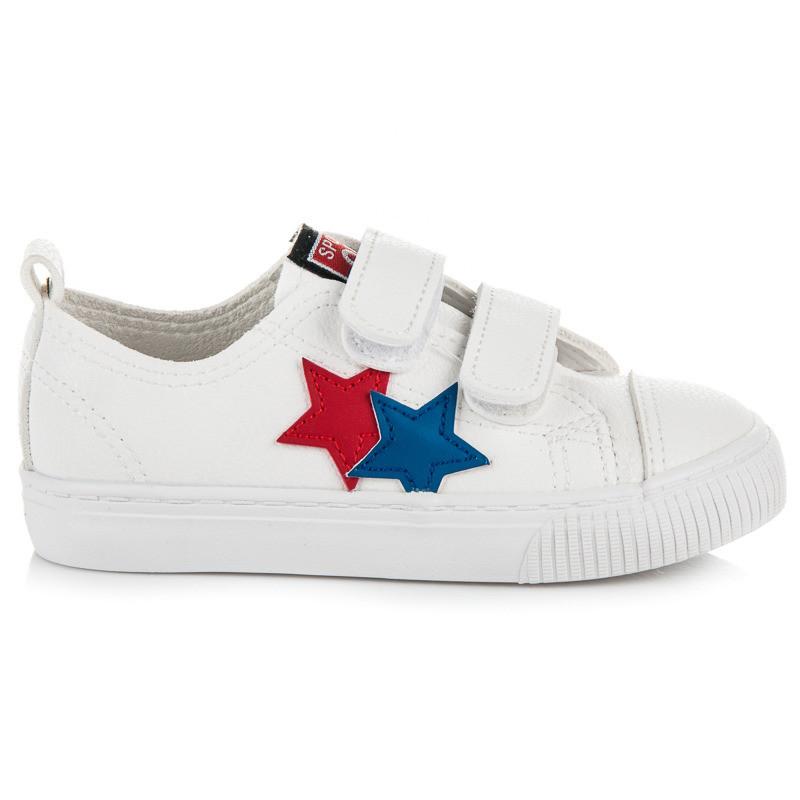 458449c2bc08 Luxusné biele detské tenisky s hviezdičkami - Detské tenisky - Locca.sk