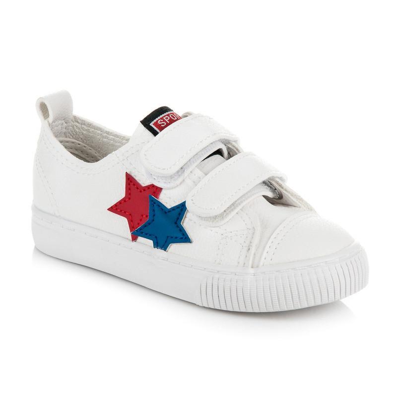 Luxusné biele detské tenisky s hviezdičkami - Detské tenisky - Locca.sk 722956ba77b