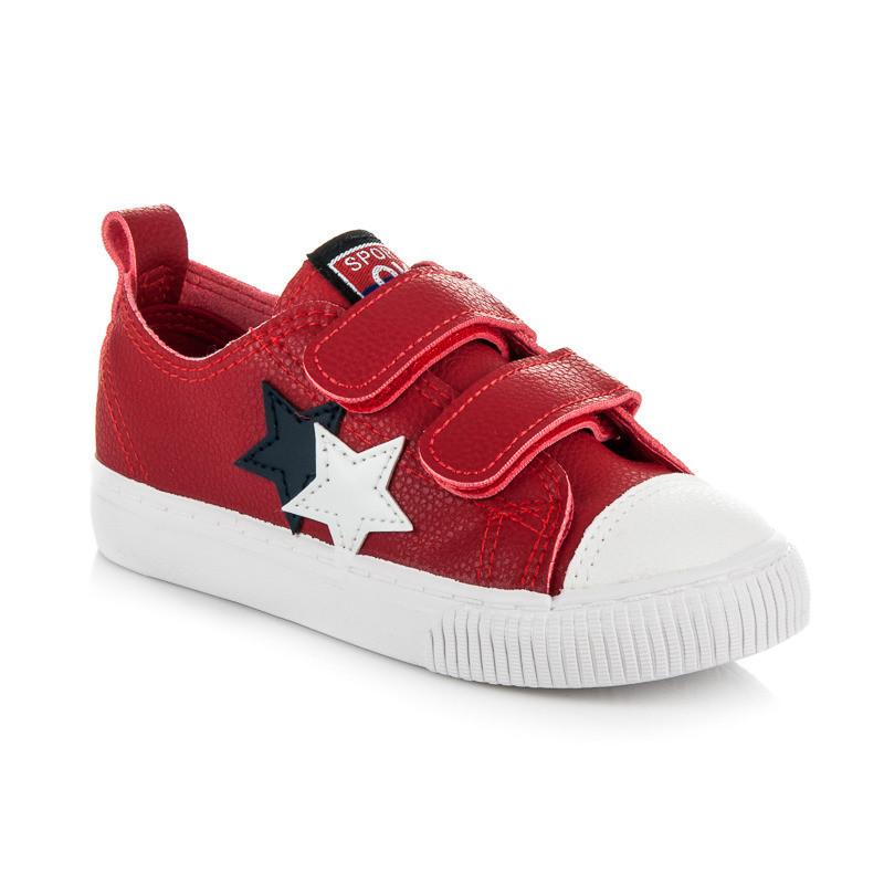 1ad2b3097037 Luxusné červené detské tenisky s hviezdičkami - Detské tenisky ...
