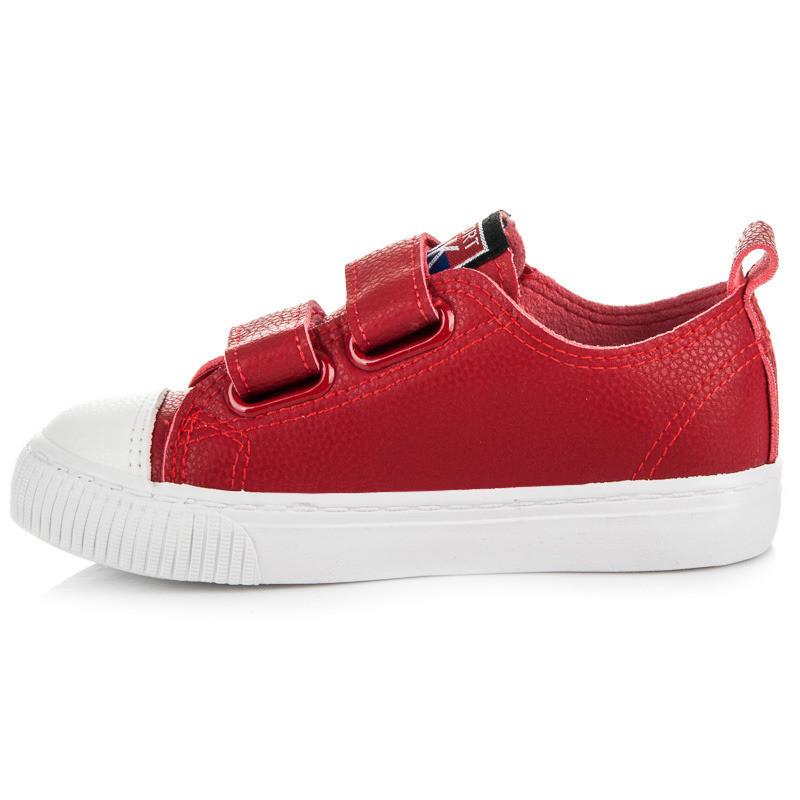 Luxusné červené detské tenisky s hviezdičkami - Detské tenisky ... 8d70b2bb77d