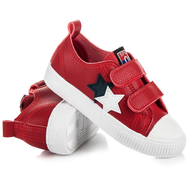 36c0dbe91ae7 Luxusné červené detské tenisky s hviezdičkami - Detské tenisky ...
