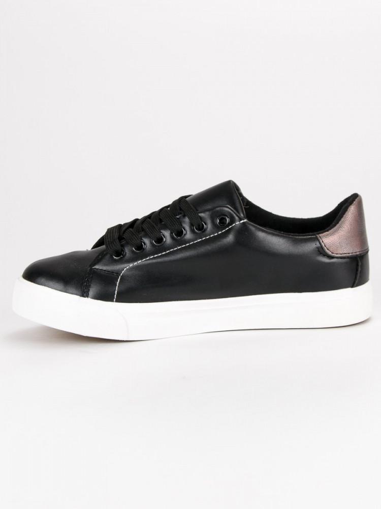 866baf96bc81 Luxusné dámske čierne bez podpätku - Dámske členkové tenisky - Locca.sk