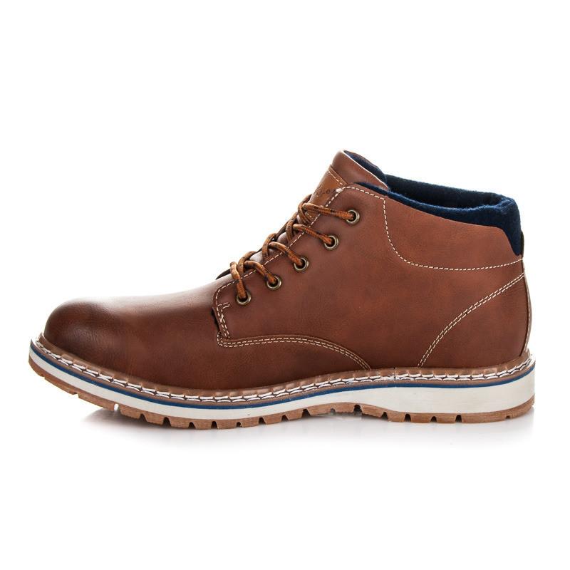 162f83e3f89ad Luxusné hnedé pánske členkové topánky - Pánska zimná obuv - Locca.sk