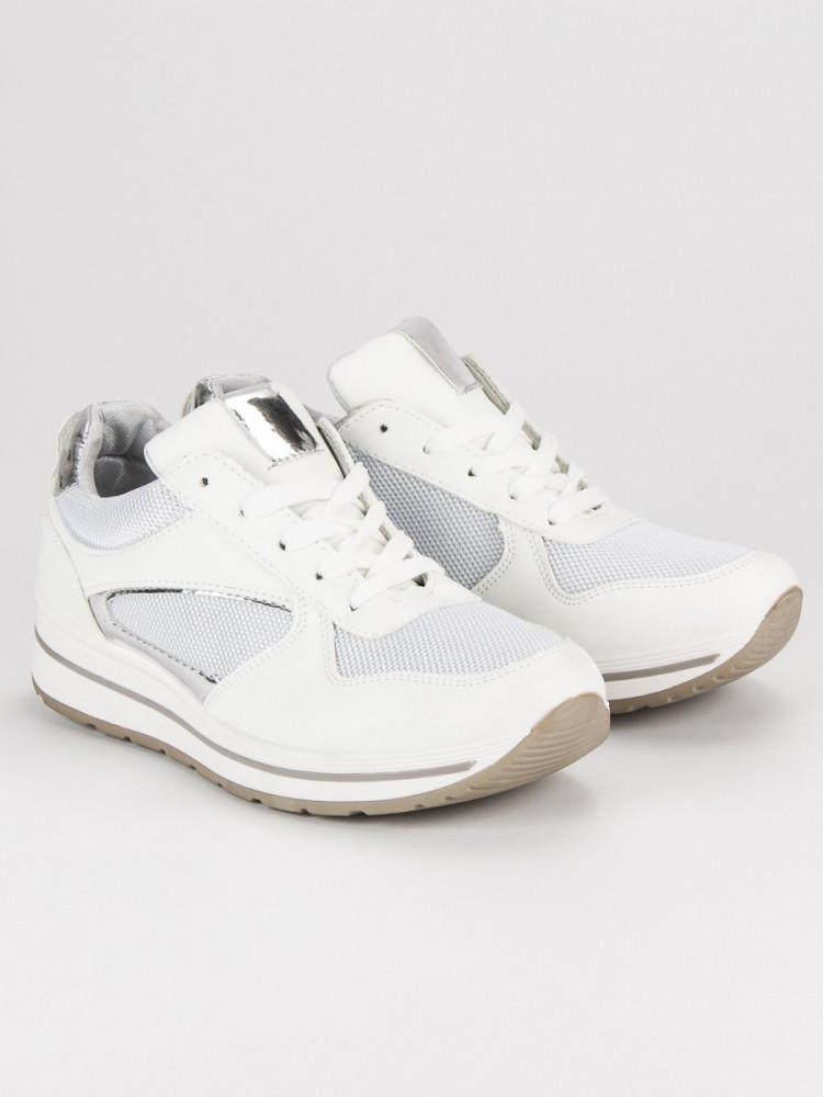 Moderné biele športové tenisky - Dámske členkové tenisky - Locca.sk 6173bfe303d