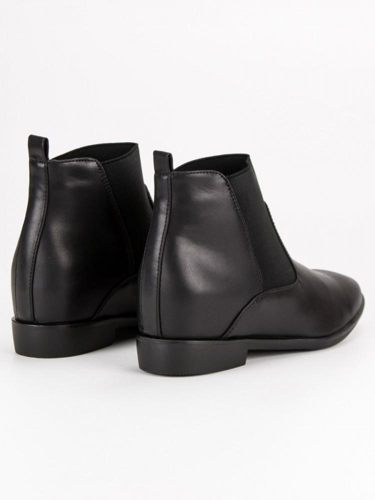 fec33a2352de Moderné čierne členkové topánky - Dámske topánky - Locca.sk