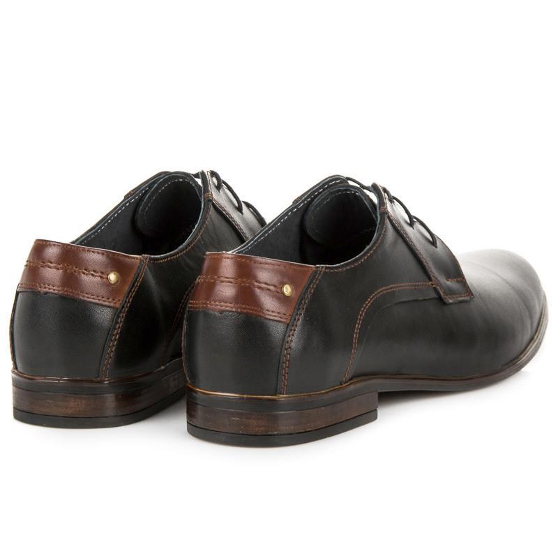 49ea091d0b19 Moderné čierne pánske kožené poltopánky - Pánska elegantná obuv ...