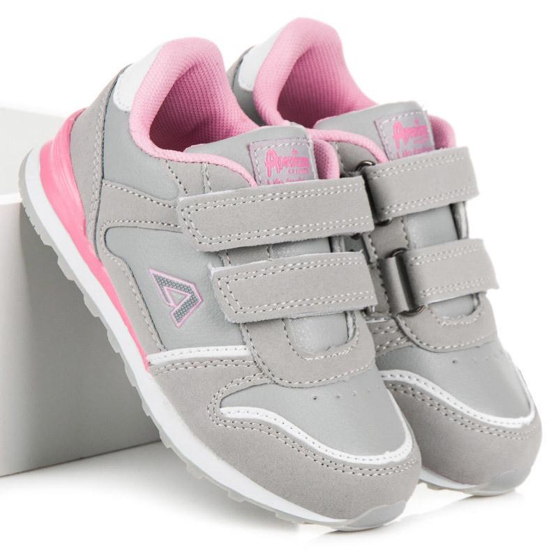 b2c0dccb2a63 Moderné detské strieborné tenisky a športové topánky bez podpätku ...