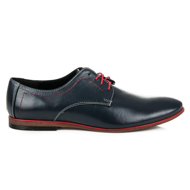 Moderné modré pánske poltopánky - Pánska elegantná obuv - Locca.sk 34ffe2dc8c6