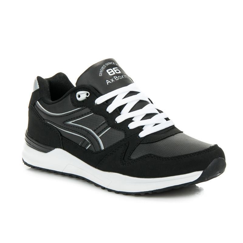 6353c8b29 Moderné pánske športové tenisky v čiernej farbe - Pánske tenisky ...