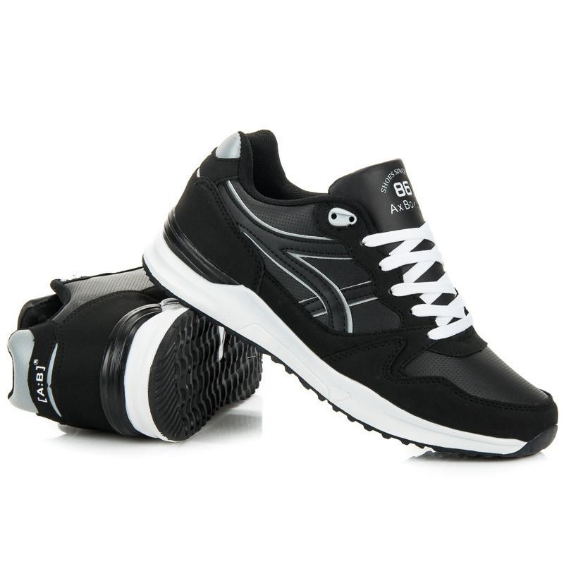 9958a9ee078fe Moderné pánske športové tenisky v čiernej farbe - Pánske tenisky ...