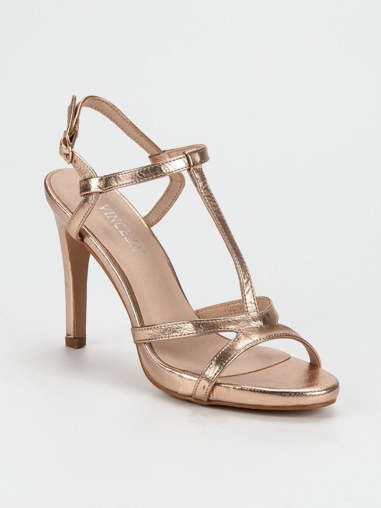 20e7b00be Moderné ružové sandále dámske na ihlovom podpätku - Dámske sandále ...