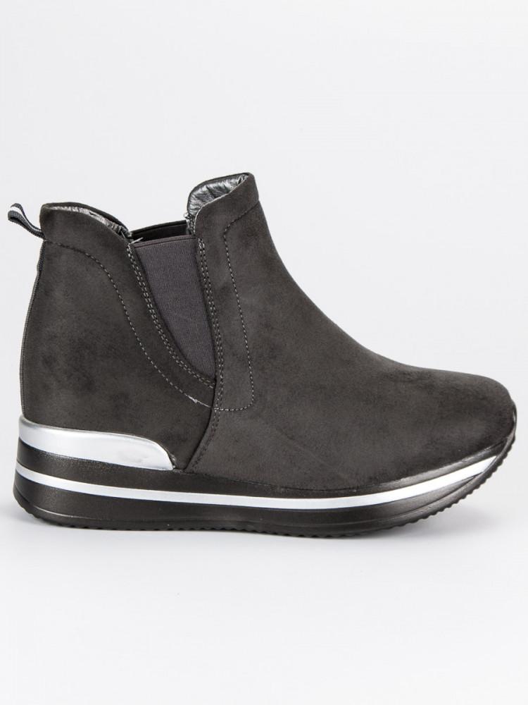 Moderné športové šedé topánky na platforme - Dámske topánky - Locca.sk 709391330f0