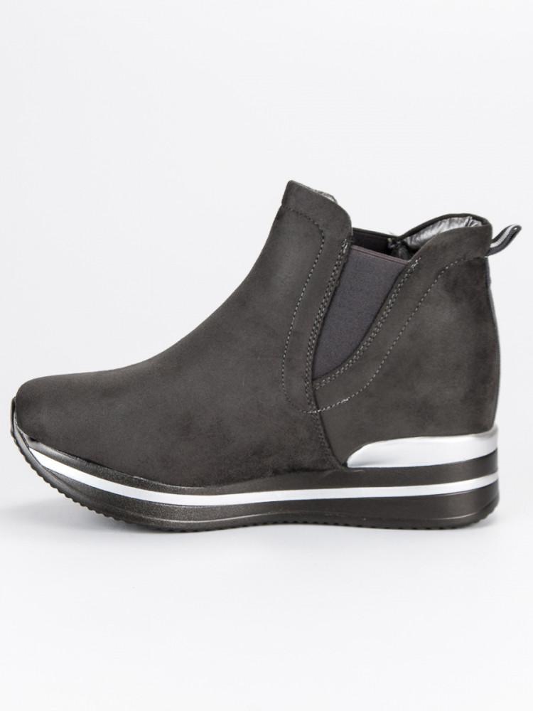 Moderné športové šedé topánky na platforme - Dámske topánky - Locca.sk 96b3b69e4ec