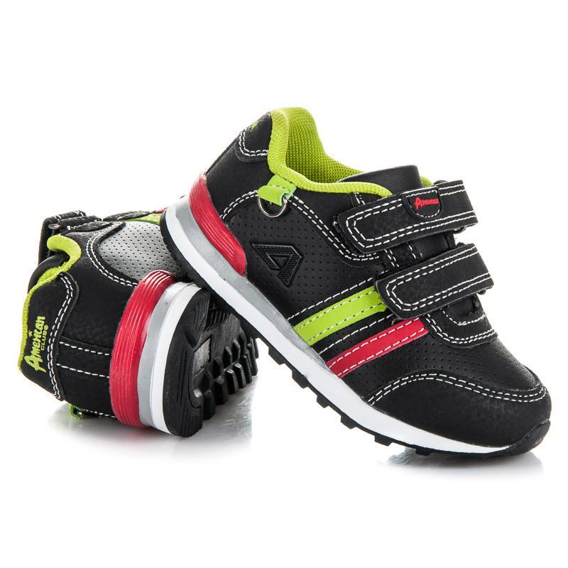 Módne čierne detské športové botasky - Detské tenisky - Locca.sk ec387026eba