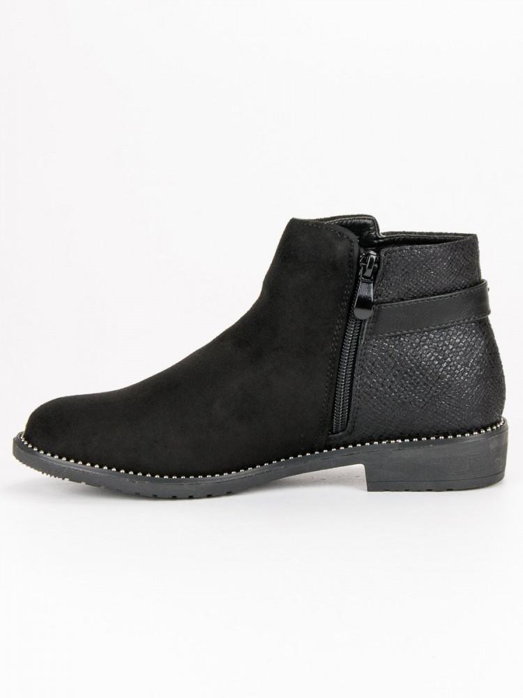 Nízke čierne dámske topánky - Dámske topánky - Locca.sk 1e25c336740