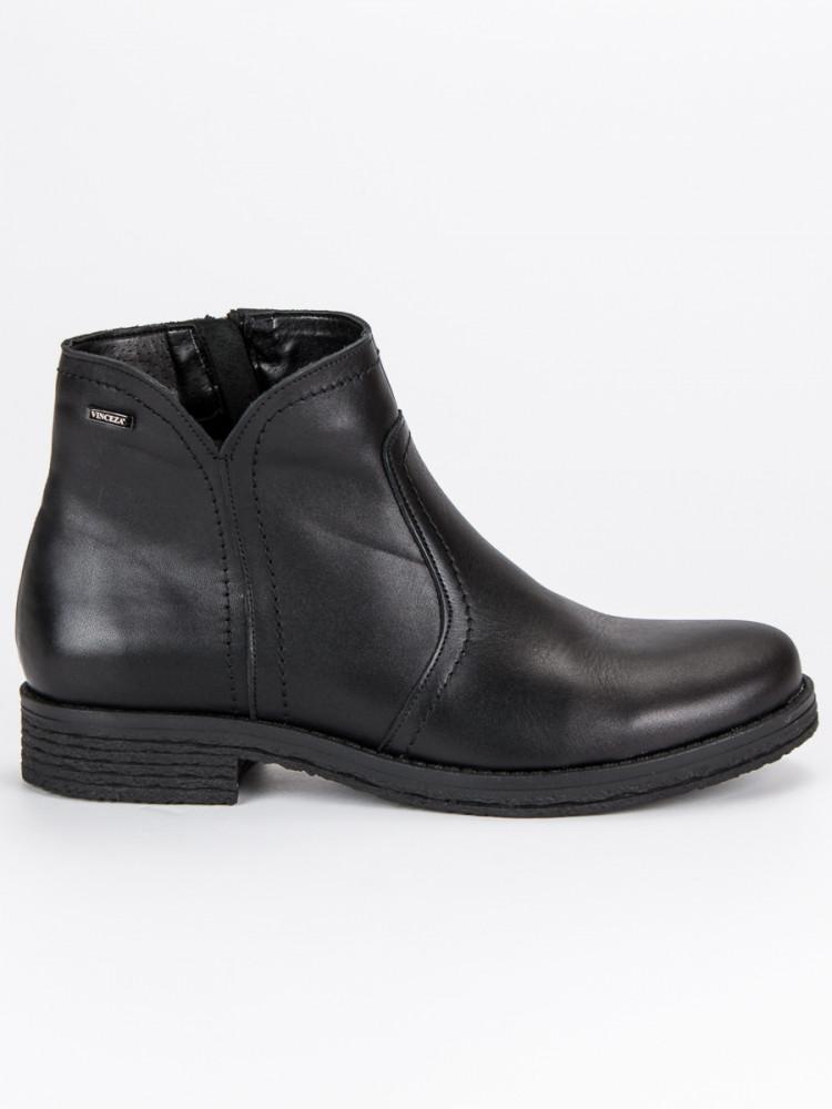 e212848d87f8b Nízke čierne kožené členkové topánky - Dámske topánky - Locca.sk