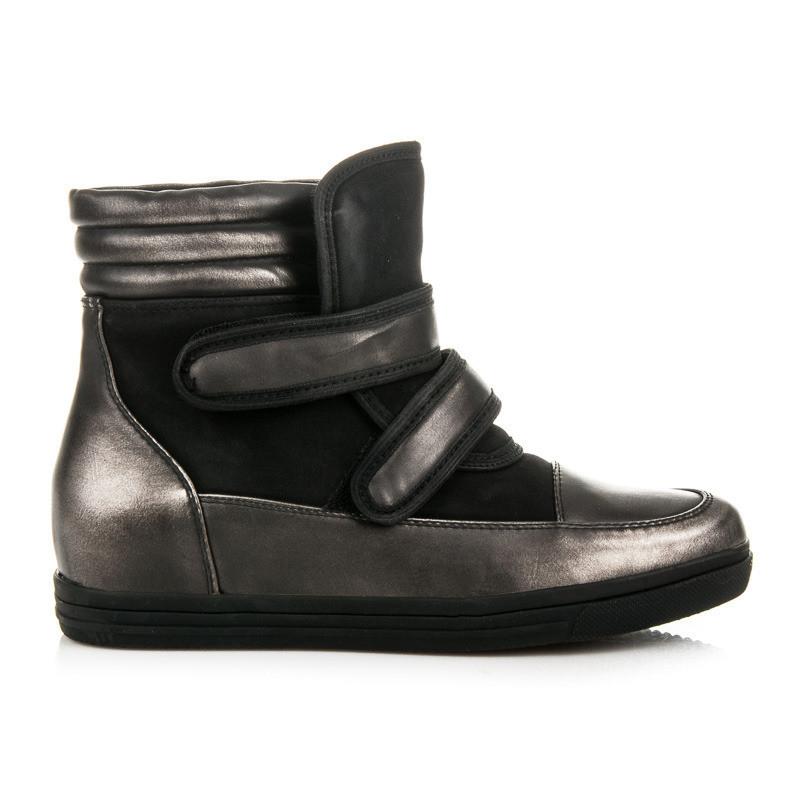 Dámske vysoké tenisky · Očarujúce čierne sneakery na suchý zips. Očarujúce  čierne sneakery na suchý zips  1 a9ca2aa574