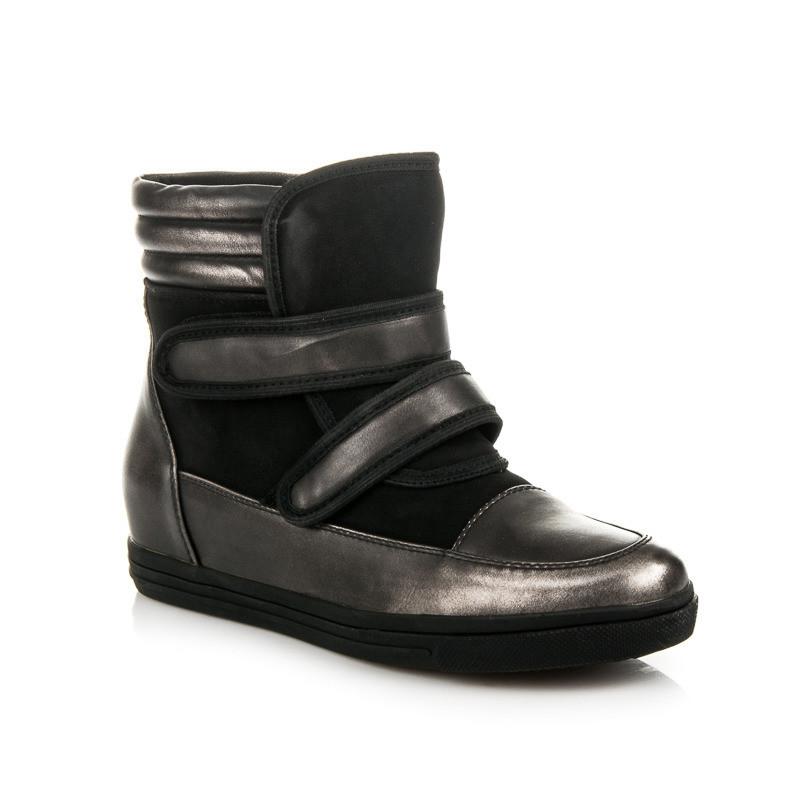 Očarujúce čierne sneakery na suchý zips - Dámske vysoké tenisky ... 8b2d4f25f3