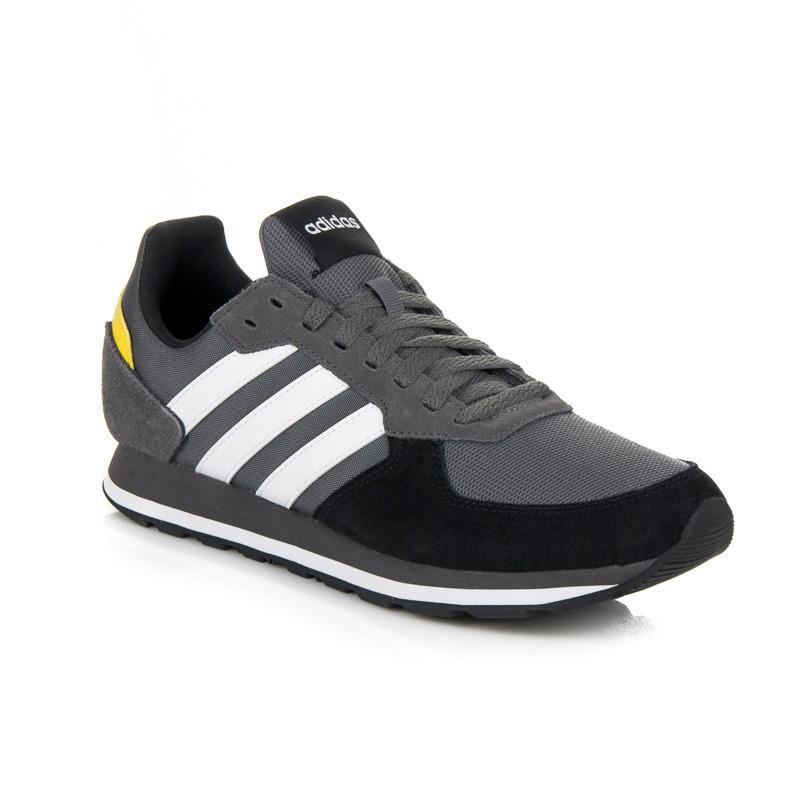 Pánske moderné šedé šnurovacie tenisky Adidas 8 K - Pánske tenisky ... 3635b3e344d