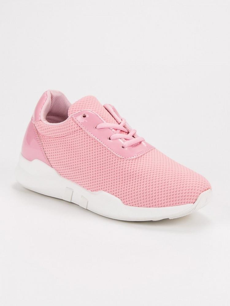 a720b51ef7bd Pekné dámske ružové tenisky bez podpätku - Dámske členkové tenisky ...