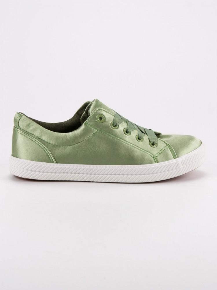 3ed286f1a Pekné zelené tenisky dámske bez podpätku - Dámske členkové tenisky ...