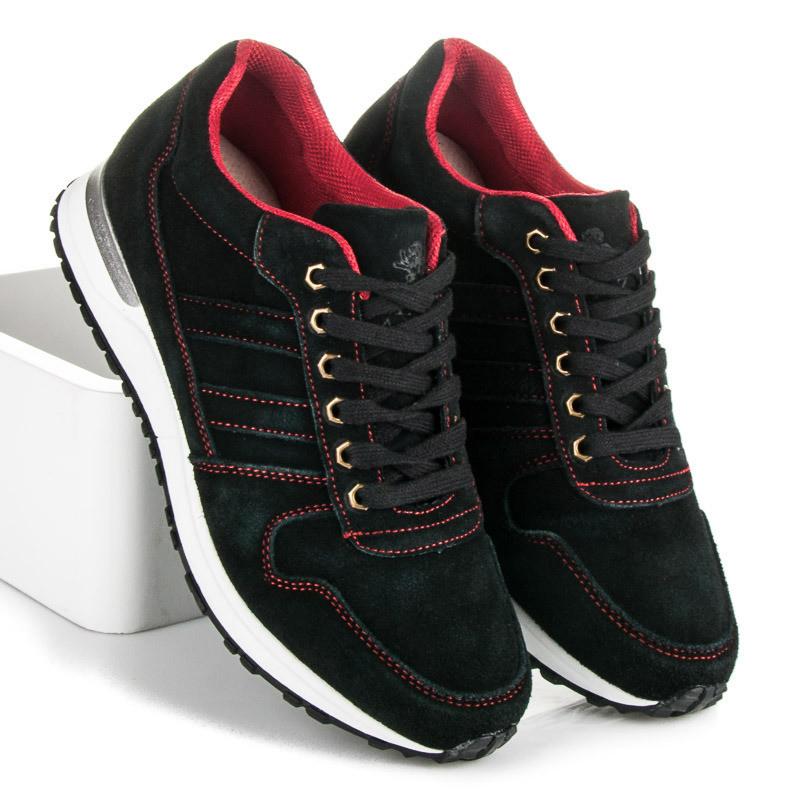 8aefe0e90485 Pohodlné čierne pánske športové topánky - Pánske tenisky - Locca.sk