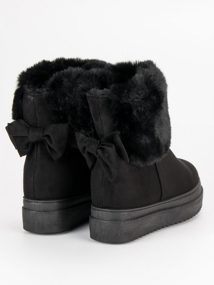 Pohodlné čierne snehule s kožušinkou - Dámske snehule - Locca.sk 91fee46a970