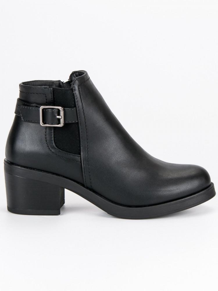 89359927d0c9 Pohodlné čierne topánky na podpätku - Dámske topánky - Locca.sk