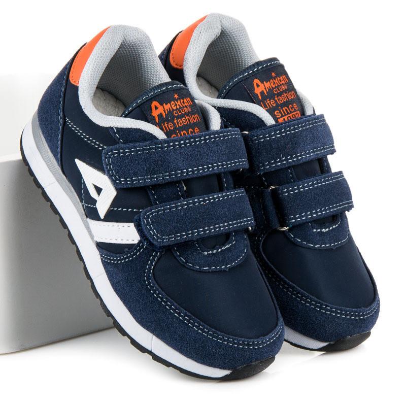 e2615c5a2 Pohodlné modré chlapčenské topánky na suchý zips - Detské tenisky ...