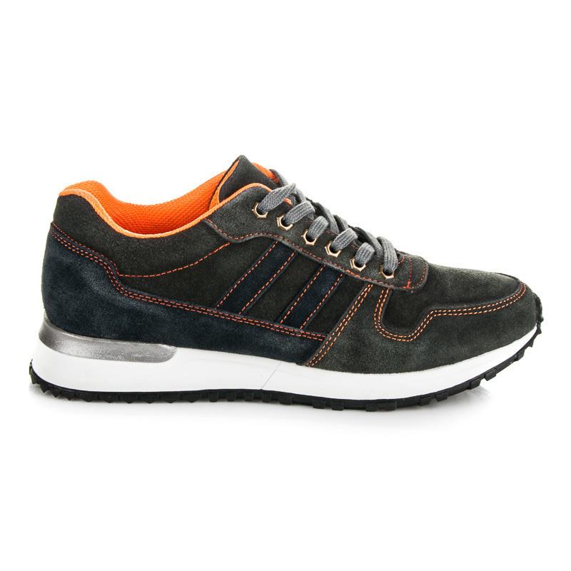 Pohodlné šedé pánske športové topánky - Pánske tenisky - Locca.sk 310d42f4d56