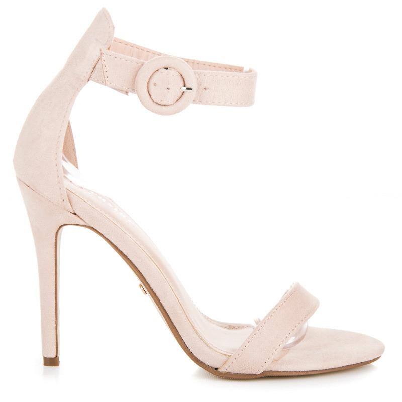 acf591cec1a5 Rozkošné béžové sandále na vysokej ihle - Dámske sandále - Locca.sk