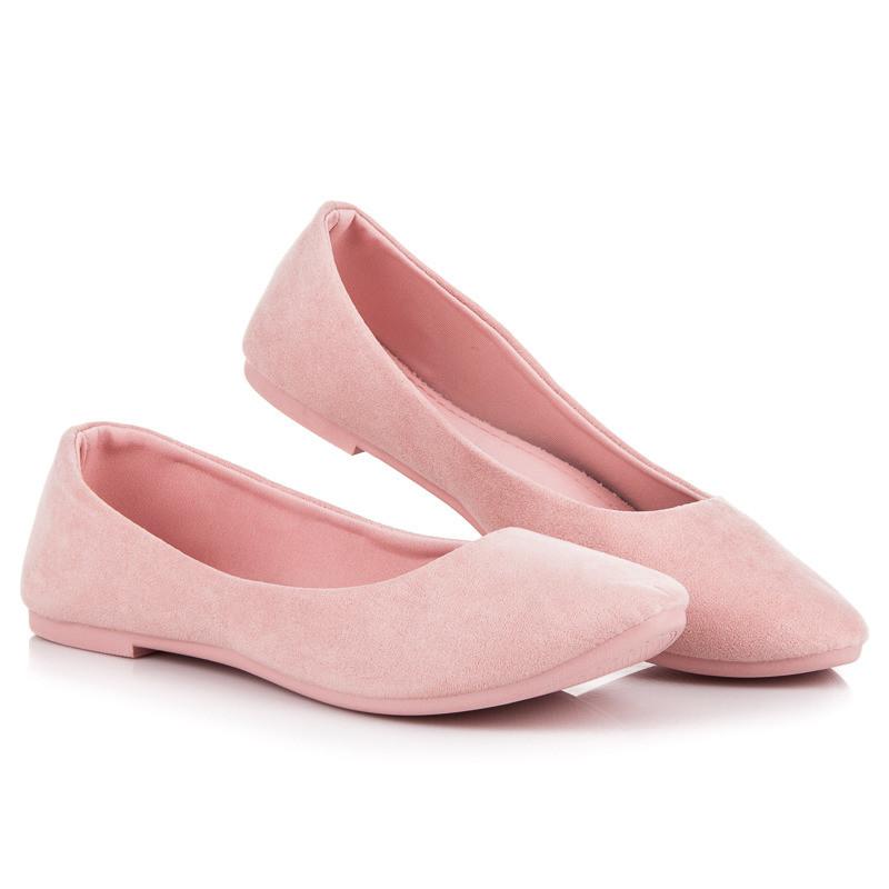 26b879437a92 Rozkošné semišové ružové balerínky - Balerínky - Locca.sk