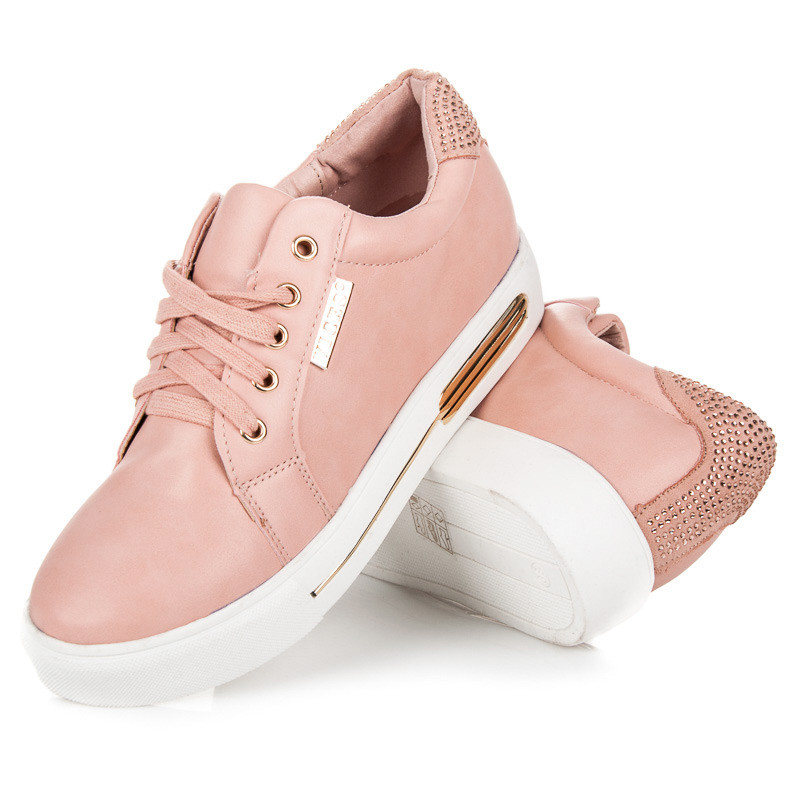 c5c5ff2aaf0e Športové ružové tenisky so zlatým zdobením - Dámske tenisky na ...